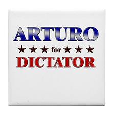 ARTURO for dictator Tile Coaster