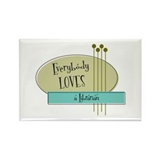 Everybody Loves a Librarian Rectangle Magnet