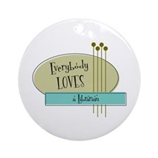 Everybody Loves a Librarian Ornament (Round)