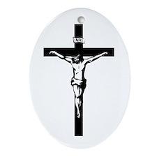 Crucifix Oval Ornament