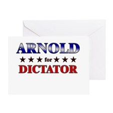 ARNOLD for dictator Greeting Card
