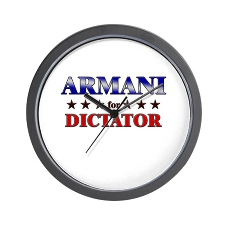 ARMANI for dictator Wall Clock