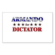 ARMANDO for dictator Rectangle Decal