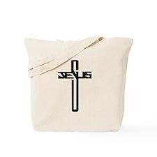 Jesus Cross Tote Bag