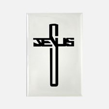 Jesus Cross Rectangle Magnet