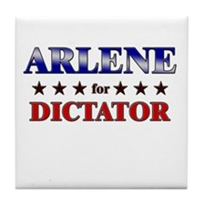 ARLENE for dictator Tile Coaster