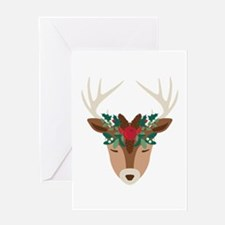 Mistletoe Reindeer Greeting Cards