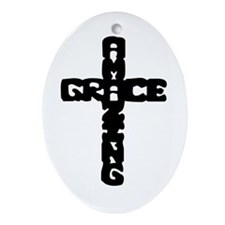Amazing Grace Oval Ornament