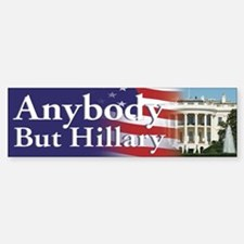 Anybody But Hillary Bumper Car Car Sticker