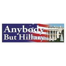 Anybody But Hillary Bumper Car Sticker