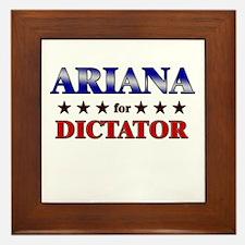 ARIANA for dictator Framed Tile