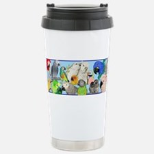 Funny Amazon parrots Travel Mug