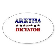 ARETHA for dictator Oval Bumper Stickers