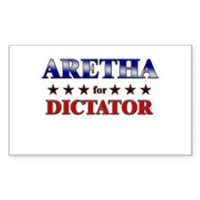 ARETHA for dictator Rectangle Bumper Stickers