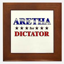 ARETHA for dictator Framed Tile