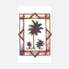 Framed Palm Tree Rectangle Decal