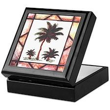 Framed Palm Tree Keepsake Box