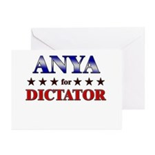 ANYA for dictator Greeting Cards (Pk of 10)