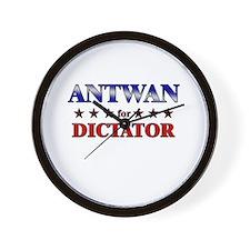 ANTWAN for dictator Wall Clock