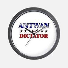 ANTWAN for dictator Wall Clock