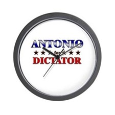 ANTONIO for dictator Wall Clock