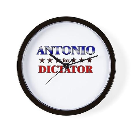 ANTONIO for dictator Wall Clock
