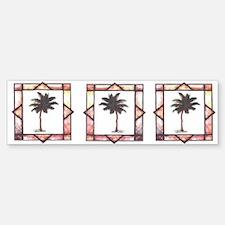 Framed Palm Tree Bumper Bumper Bumper Sticker