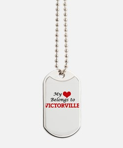 My heart belongs to Victorville Californi Dog Tags