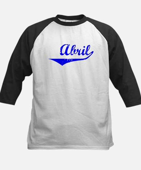 Abril Vintage (Blue) Kids Baseball Jersey