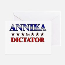 ANNIKA for dictator Greeting Card