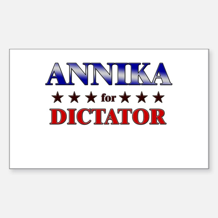 ANNIKA for dictator Rectangle Decal