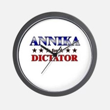 ANNIKA for dictator Wall Clock