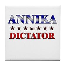 ANNIKA for dictator Tile Coaster