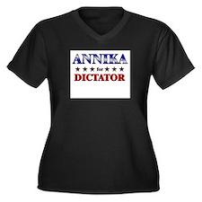 ANNIKA for dictator Women's Plus Size V-Neck Dark