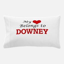 My heart belongs to Downey California Pillow Case