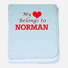My heart belongs to Norman Oklahoma baby blanket