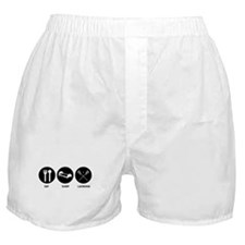 Eat Sleep Lacrosse Boxer Shorts