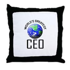World's Greatest CEO Throw Pillow
