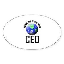 World's Greatest CEO Oval Decal