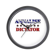 ANNALISE for dictator Wall Clock