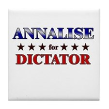 ANNALISE for dictator Tile Coaster