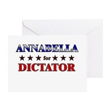 ANNABELLA for dictator Greeting Card