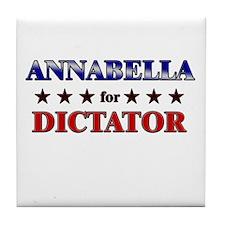 ANNABELLA for dictator Tile Coaster