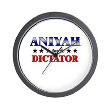 ANIYAH for dictator Wall Clock