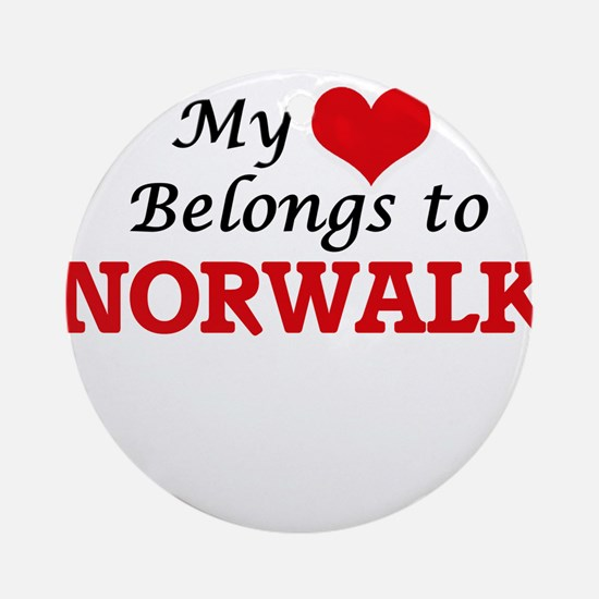 My heart belongs to Norwalk Califor Round Ornament