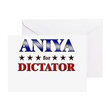 ANIYA for dictator Greeting Card