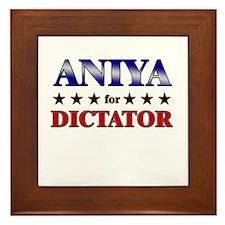 ANIYA for dictator Framed Tile