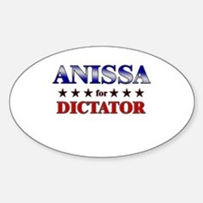 ANISSA for dictator Oval Decal