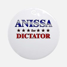 ANISSA for dictator Ornament (Round)