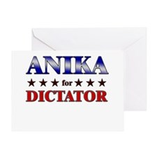 ANIKA for dictator Greeting Card